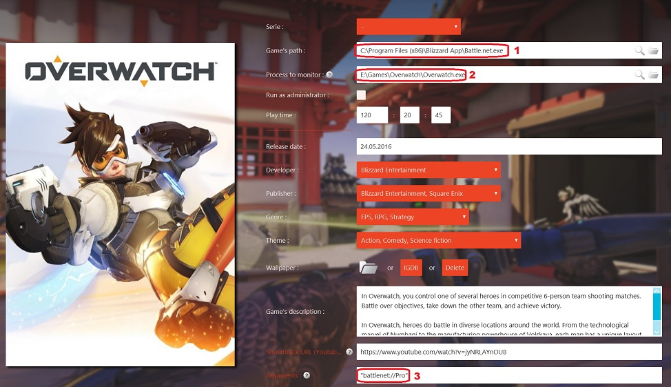 Overwatch] Log-in directly & recording playtime – GameRoom